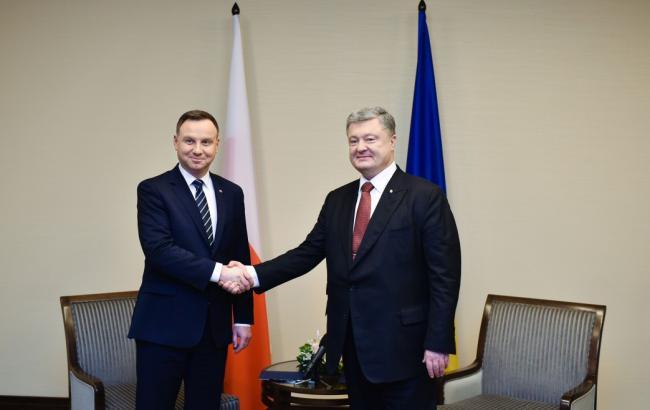 Встреча Порошенко и Дуды посвящена координации усилий по противодействию агрессии РФ