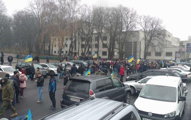 Колонна машин «Автомайдана» прибыла к дому Луценко