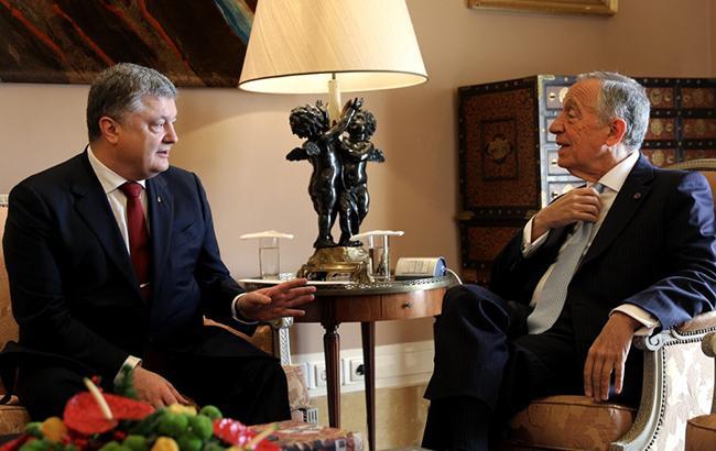 Порошенко обсудил с президентом Португалии размещение миротворцев ООН на Донбассе