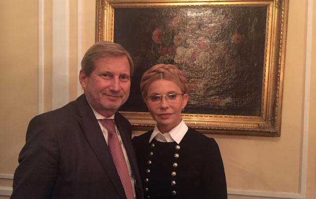 Мюнхенская конференция: Тимошенко встретилась с еврокомиссаром Ханом