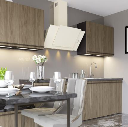 Наклонные кухонные вытяжки от Ventolux: преимущества, цены, где купить