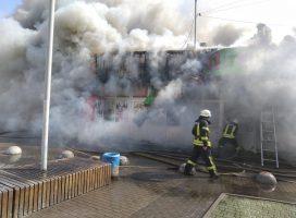 Спасатели рассказали о последствиях пожара на рынке в Киеве
